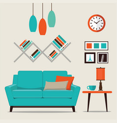 modern design interior living room vector image