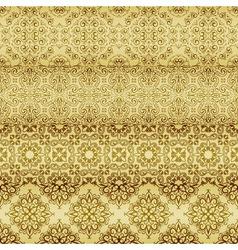 seamless golden patterns vector image