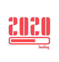 2020 happy new year loading with text vector image