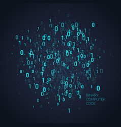 abstract background with binary code analysis vector image