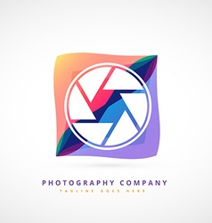 abstract photography logo design vector image