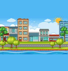 an outdoor scene with town vector image