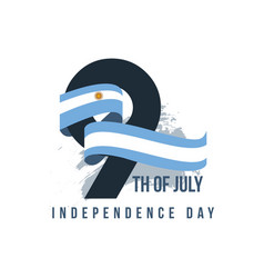 Argentina independent day template design vector