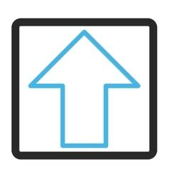Arrow Up Framed Icon vector