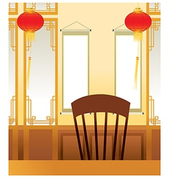 Asian Oriental Interior vector image vector image