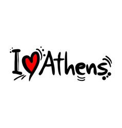 athens love message vector image