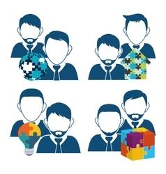 avatar teamwork support design vector image