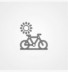 bicycle icon sign symbol vector image