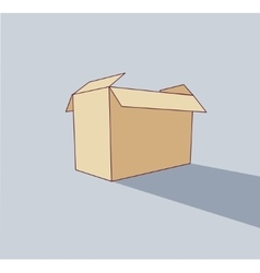 Big empty box object flat shadow icon pack vector image