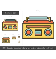 Boombox line icon vector