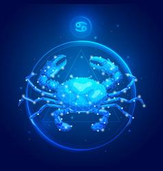 Cancer zodiac sign icons vector