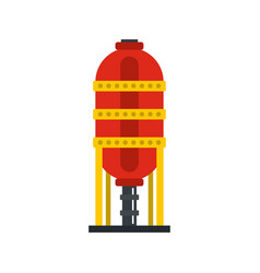 Capacity for oil storage icon flat style vector
