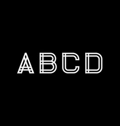 capital letters a b c d created from vector image