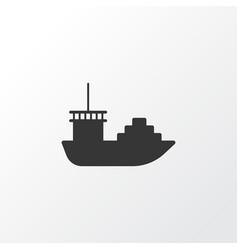 cargo boat icon symbol premium quality isolated vector image