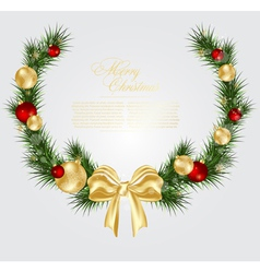 christmas card background vector image
