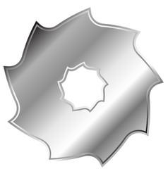 Circular saw blade abstract shape symbol icon vector