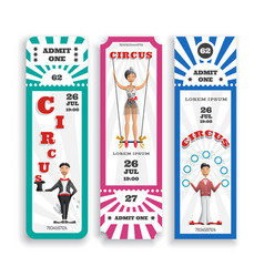 circus entrance tickets vector image