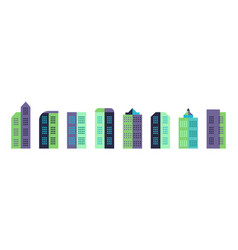 city building in minimal style town landscape vector image