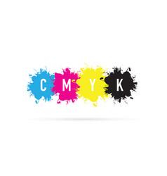 cmyk splash background vector image