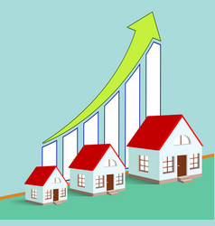 Construction of real estate growth chart vector