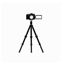 digital camera pop out screen vector image