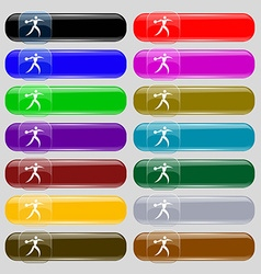 Discus thrower icon sign Set from fourteen vector