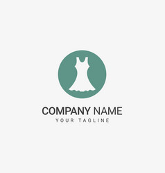 dress logo for fashion company vector image