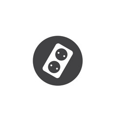 Electric outlet icon symbol design isolated vector