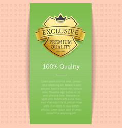 Exclusive premium quality vector