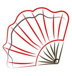 Fan drawing on white background vector