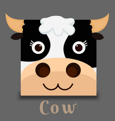 Flat image of an cow face vector