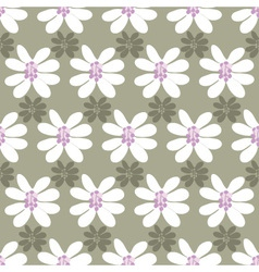 floral seamless pattern on a colored background vector image