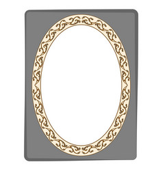 Frame oval in rectangle card vector