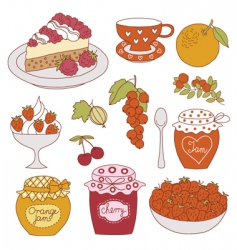 fruit dessert vector image