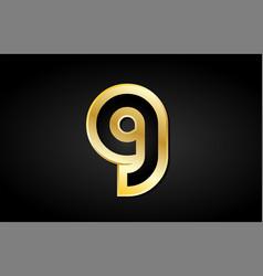 G gold golden letter logo icon design vector