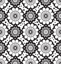 geometric flower seamless pattern vector image