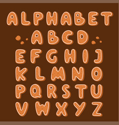 Gingerbread cookies alphabet holidays ginger vector