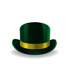 green leprechaun hat on white background st vector image