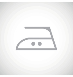 Grey middle temperature ironing icon vector