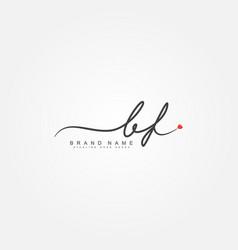 Initial letter bf logo - handwritten signature vector