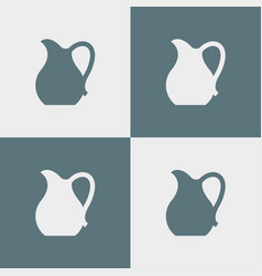 Jug icon simple vector