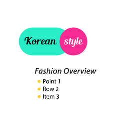 korean style logo for fashion store of clothing vector image