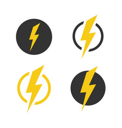 lightning icons set symbols set on white vector image