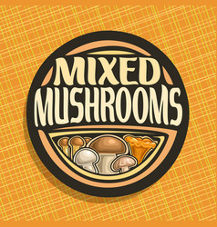 Logo for mushrooms vector
