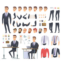 manager creation kit businessman office person vector image
