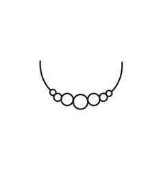 Necklace icon vector