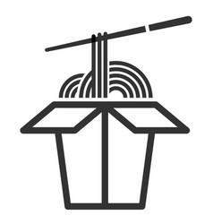 noodle line art icon pasta in box vector image