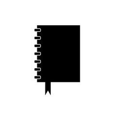 notebook icon with bookmark vector image