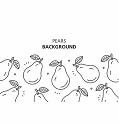 pears background vector image