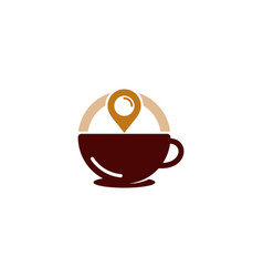 pin coffee logo icon design vector image